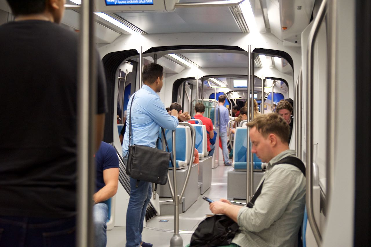 Inside the Dubai Tram
